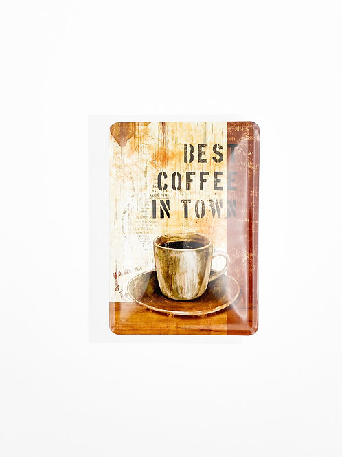 "Blechpostkarte ""Best Coffee In Town"""