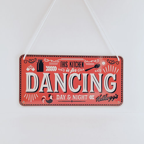"Schild ""Kitchen Dancing"""