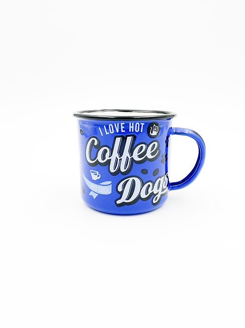 """Emailletasse """"Coffee & Dogs"""""""