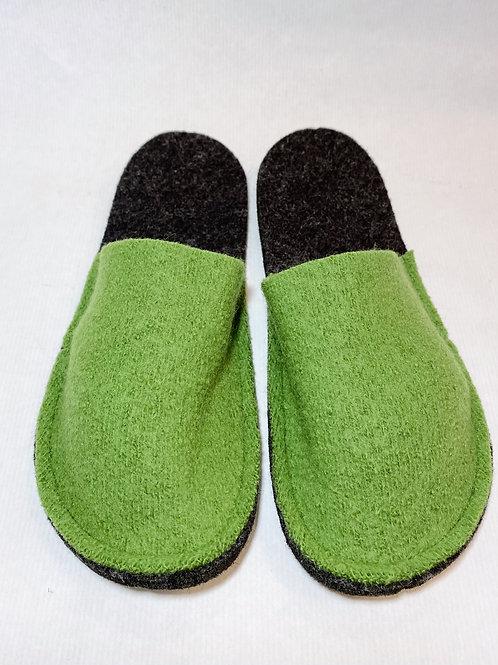 Schurwollpatschen grün