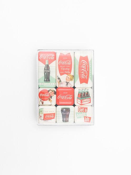 """9er Magnet-Set """"CocaCola"""""""