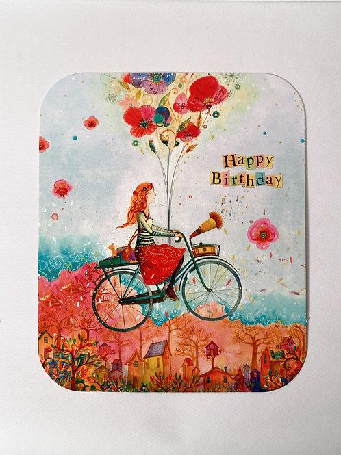 """Karte """"Fahrrad Happy Birthday"""""""