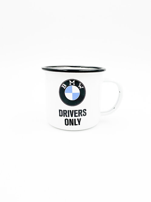"""Emailletasse """"BMW Drivers Only"""""""