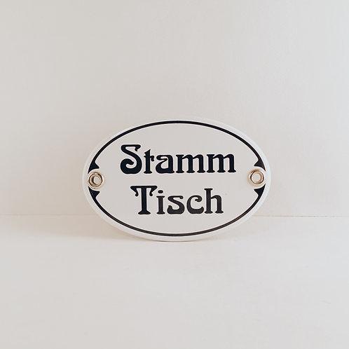"""Schild """"Stamm Tisch"""""""
