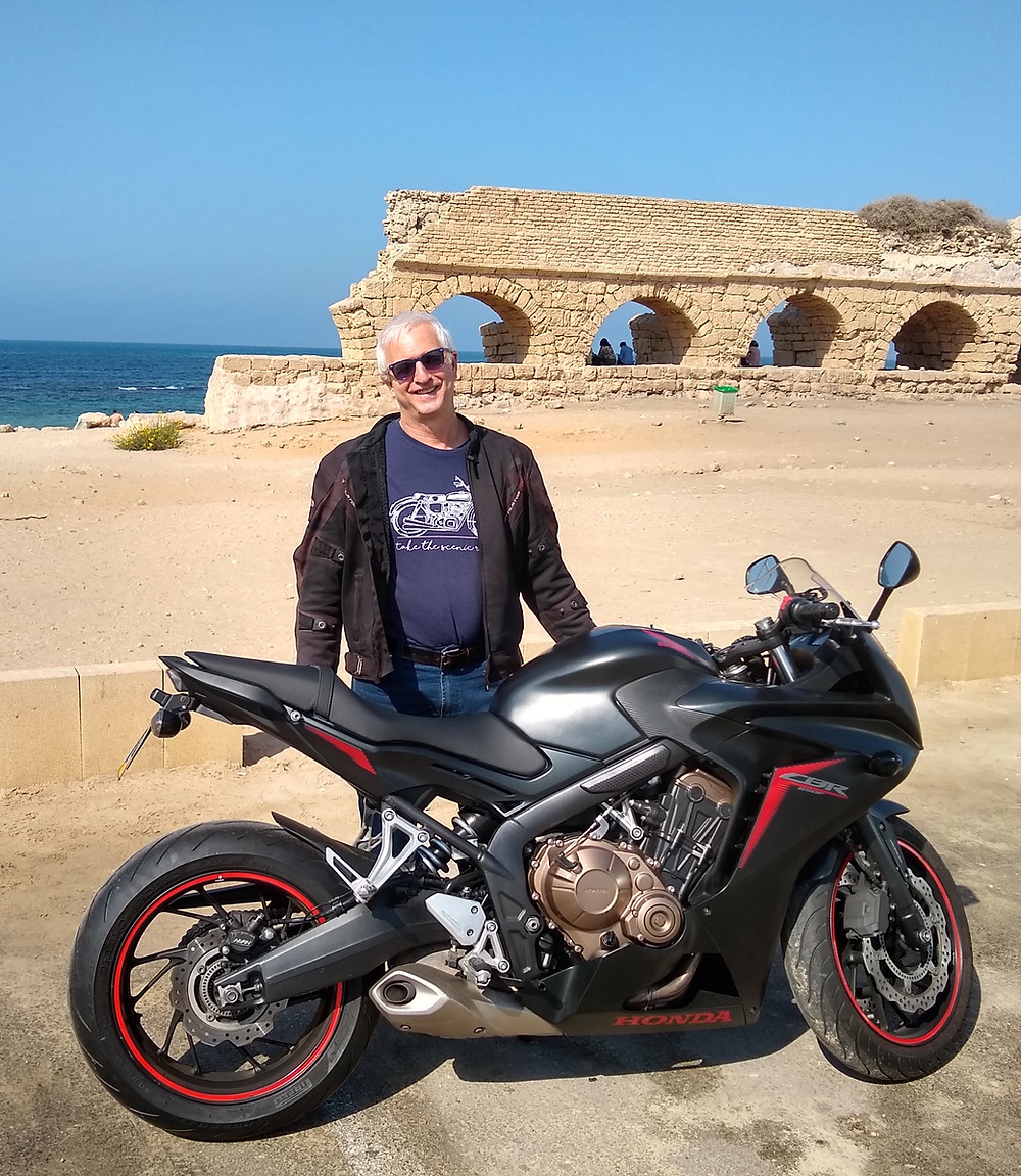 2018 Honda CBR650F at Aqueduct Beach, Caesarea
