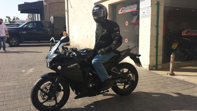 2013 Honda CBR250R from the Tel Aviv Honda dealer