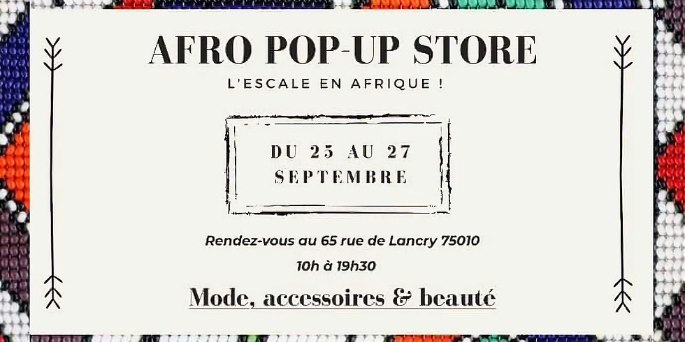 AFRO POP-UP STORE