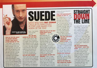 Melody Maker, Interview with Mat Osman,1999