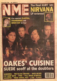 NME, 29 October 1994 Cover