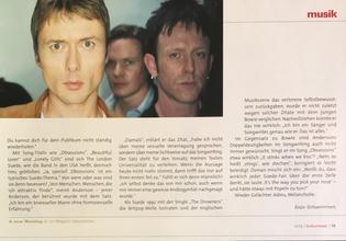 Kulturnews Magazine, Germany, October 2002 page 19