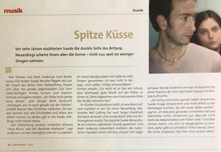 Kulturnews Magazine, Germany, October 2002 page 18