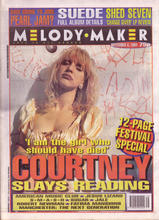 Melody Maker, 3 September 1994 Cover