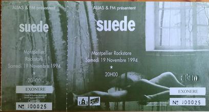 Le Rockstore, Montpellier, France, 19  November 1994