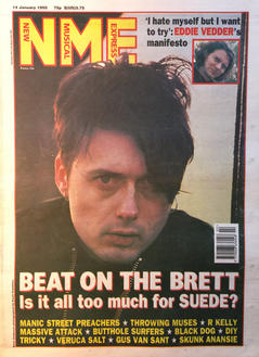 NME, 14 January 1995 Cover