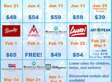 Announcing our weekend lift ticket deals