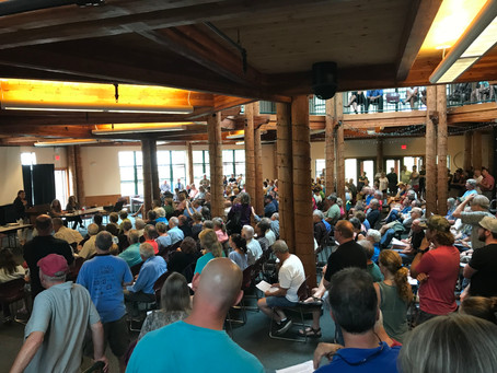 Hundreds attend public meeting to determine if State of NH will allow the sale of Mt Sunapee to Vail