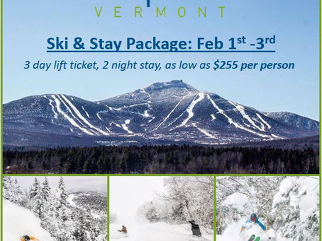 New cottages available for our Jay Peak weekend! Ski & Stay February 1st - 3rd