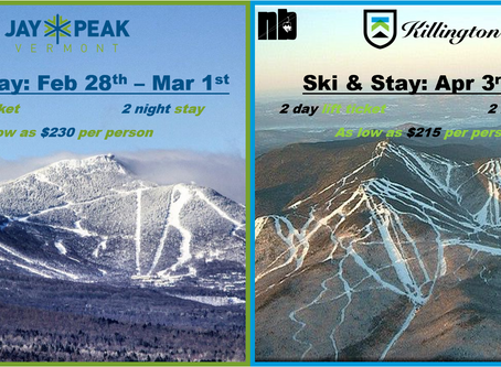 Ski & Stay: Jay Peak or Killington for as low as $215