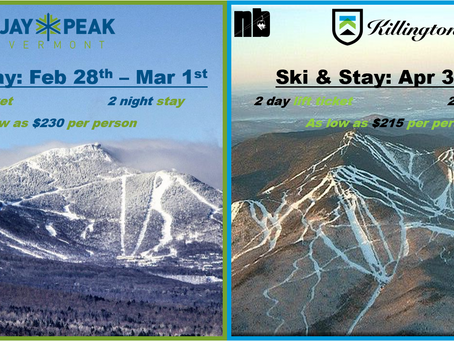 Ski & Stay: Jay Peak or Killington for as low as $215