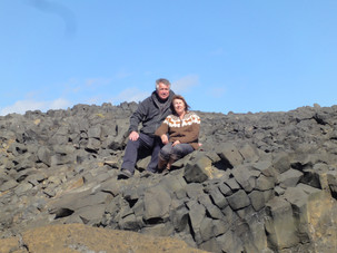 Me and my hubby at Dyrhóley