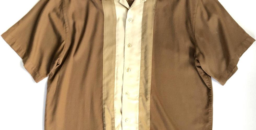 Van Heusen rayon open collar shirt