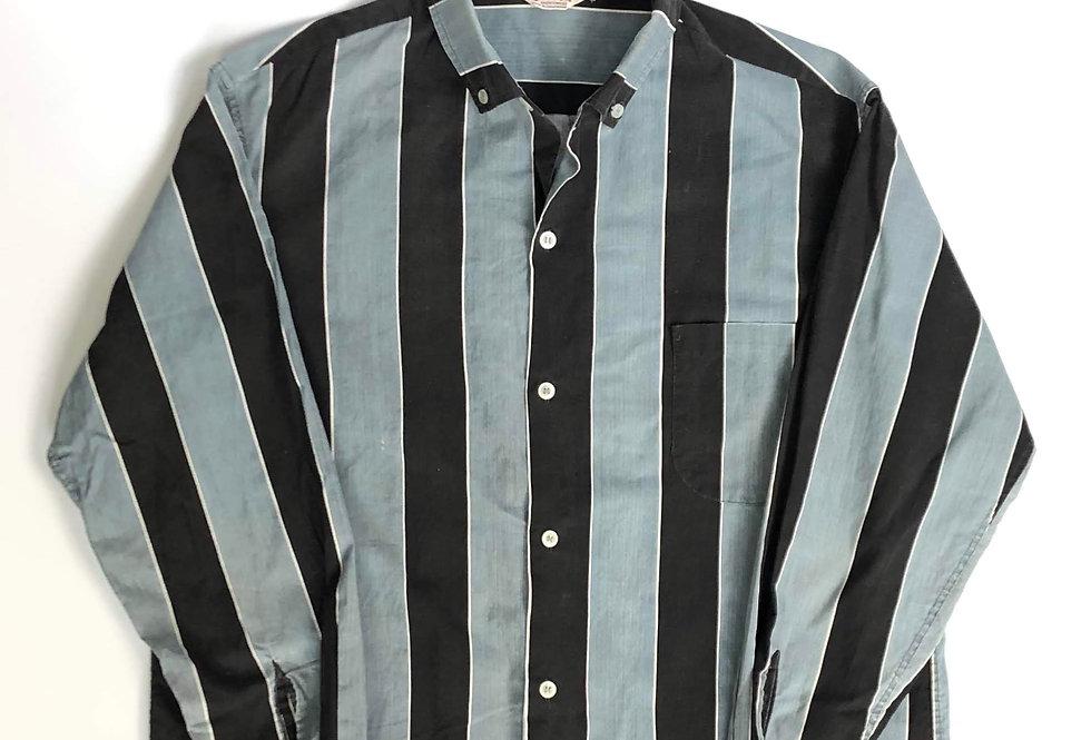 1960s old cotton stripe shirt