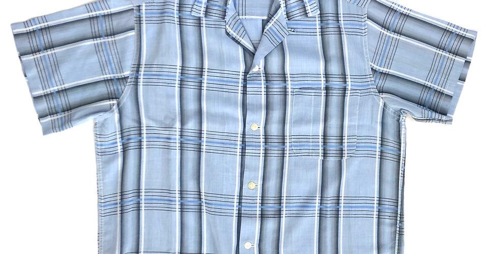 1970s open collar shirt