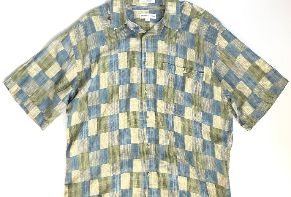 """Pierre Cardin silk shirt """"modern check """""""