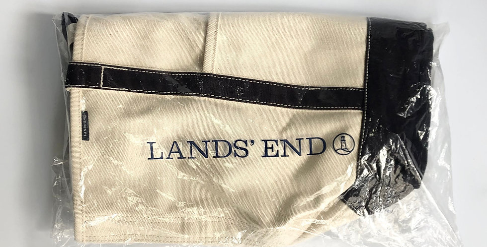 LAND'S END zip top tote bag