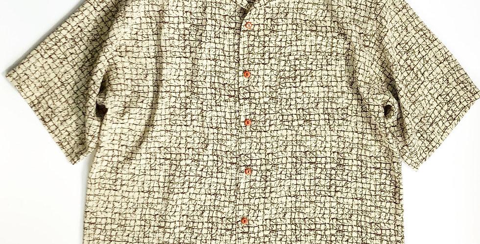 1980s〜 design open collar shirt