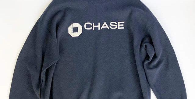 """1990s """" chase """" crew neck sweat"""