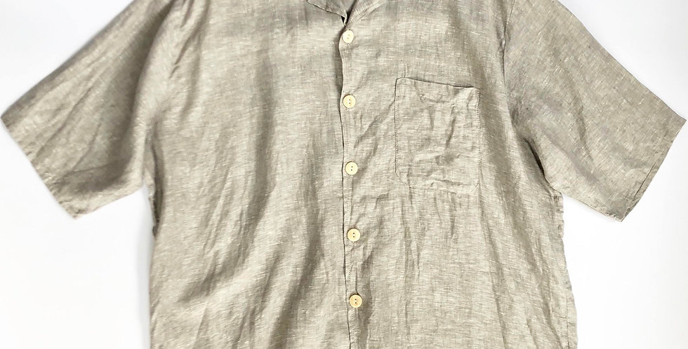 FLAX open collar linen shirt