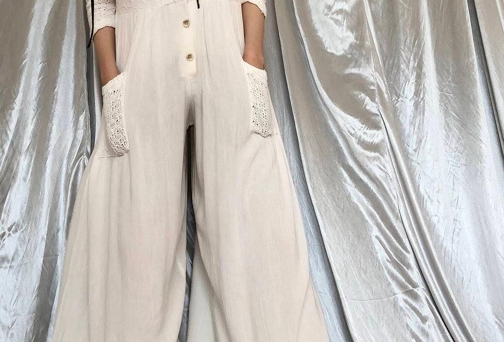 1980s〜 linen jumpsuit