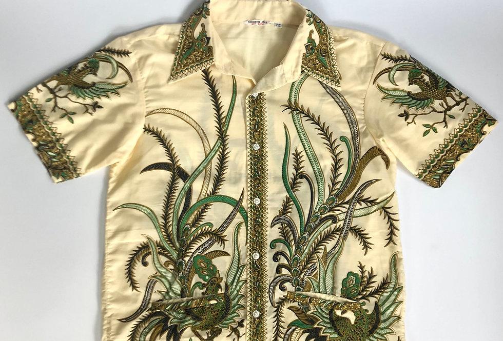 1970s old batik shirt
