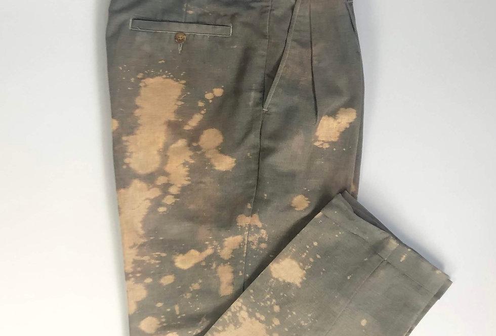 """1990s〜 bleach linen slacks """" overdye """""""