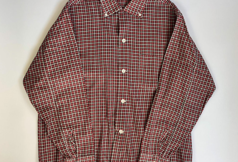 1960s rayon open collar check shirt