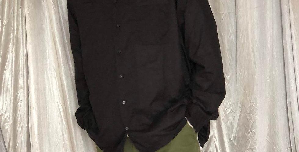 ralph rauren cotton open collar shirt