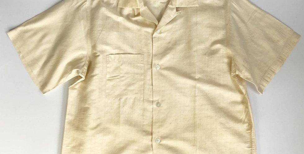1950s〜 open collar silk shirt