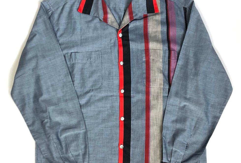 nos 1950s〜 italian collar cotton shirt