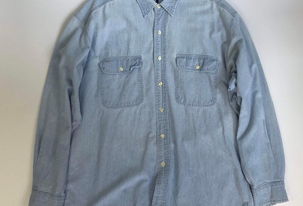 1990s old gap denim shirt