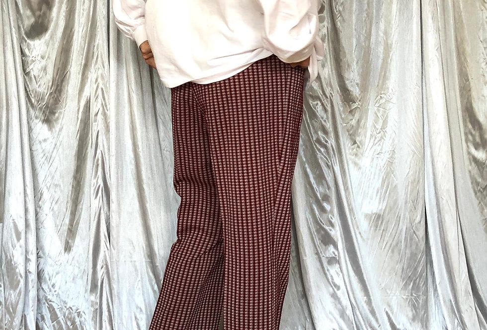 1970s jacquard pants
