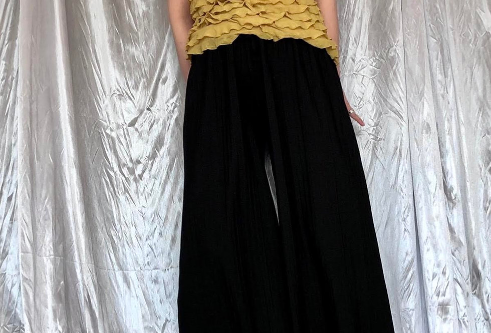 """black wide pants """" mimore """""""