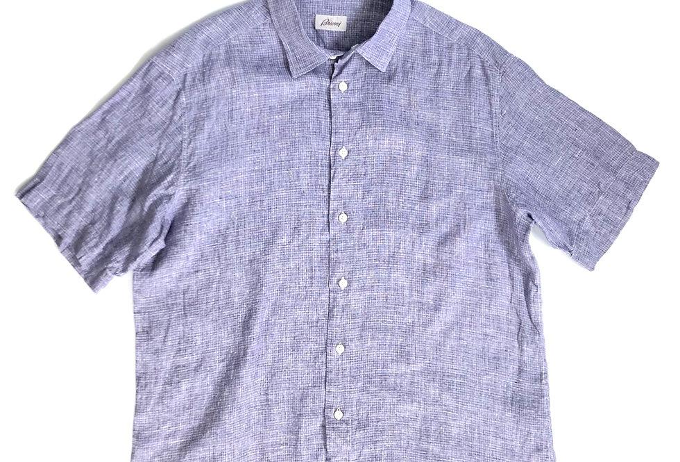 basket check  linen shirt