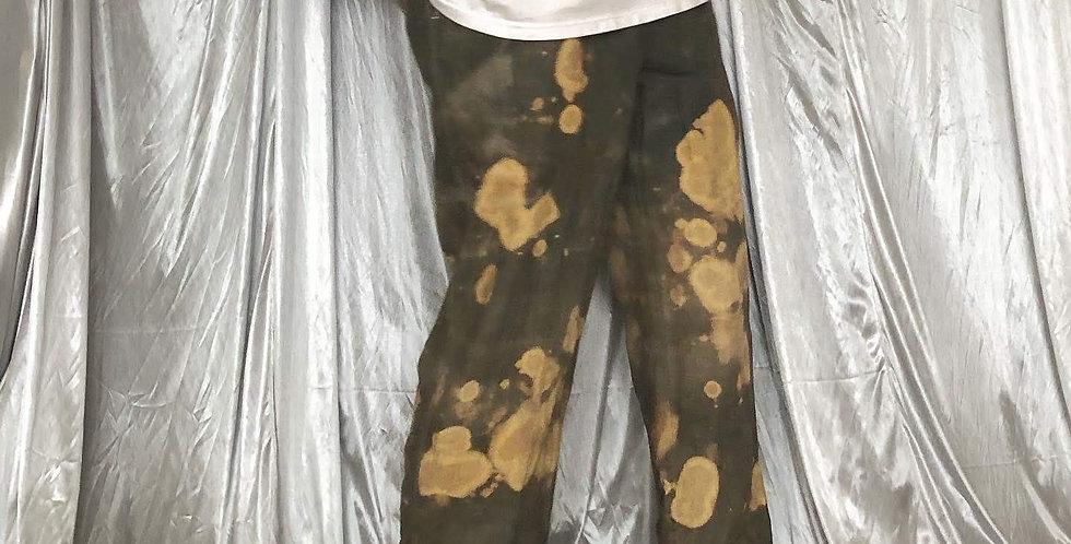 "banana republic bleach linen slacks "" overdye """