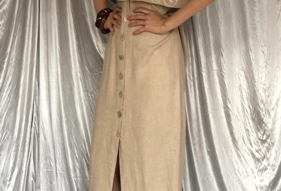 1995s design linen dress