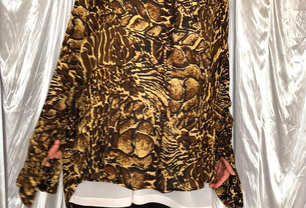1980s rayon l/s shirt
