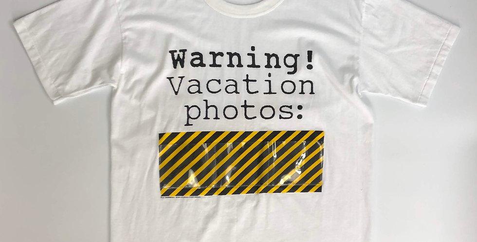 """1990s """" warning """" tee"""