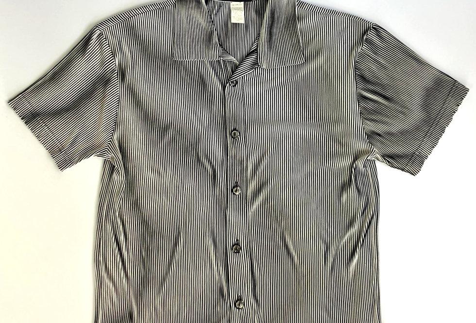 "1980 open collar stripe shirt "" luster """