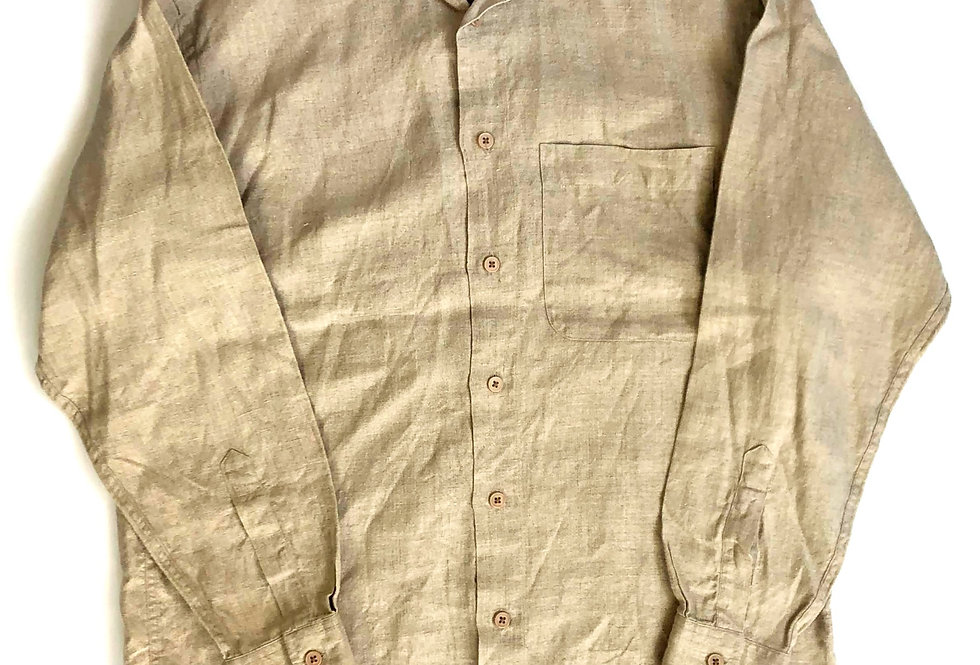 no collar linen shirt