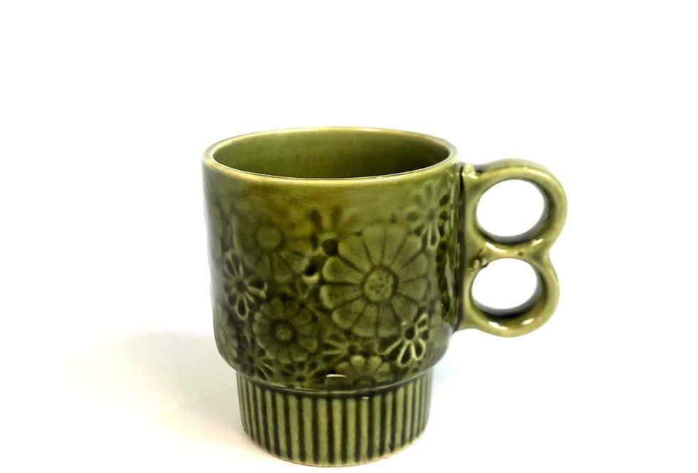 1960s〜 flower pattern stacking mug